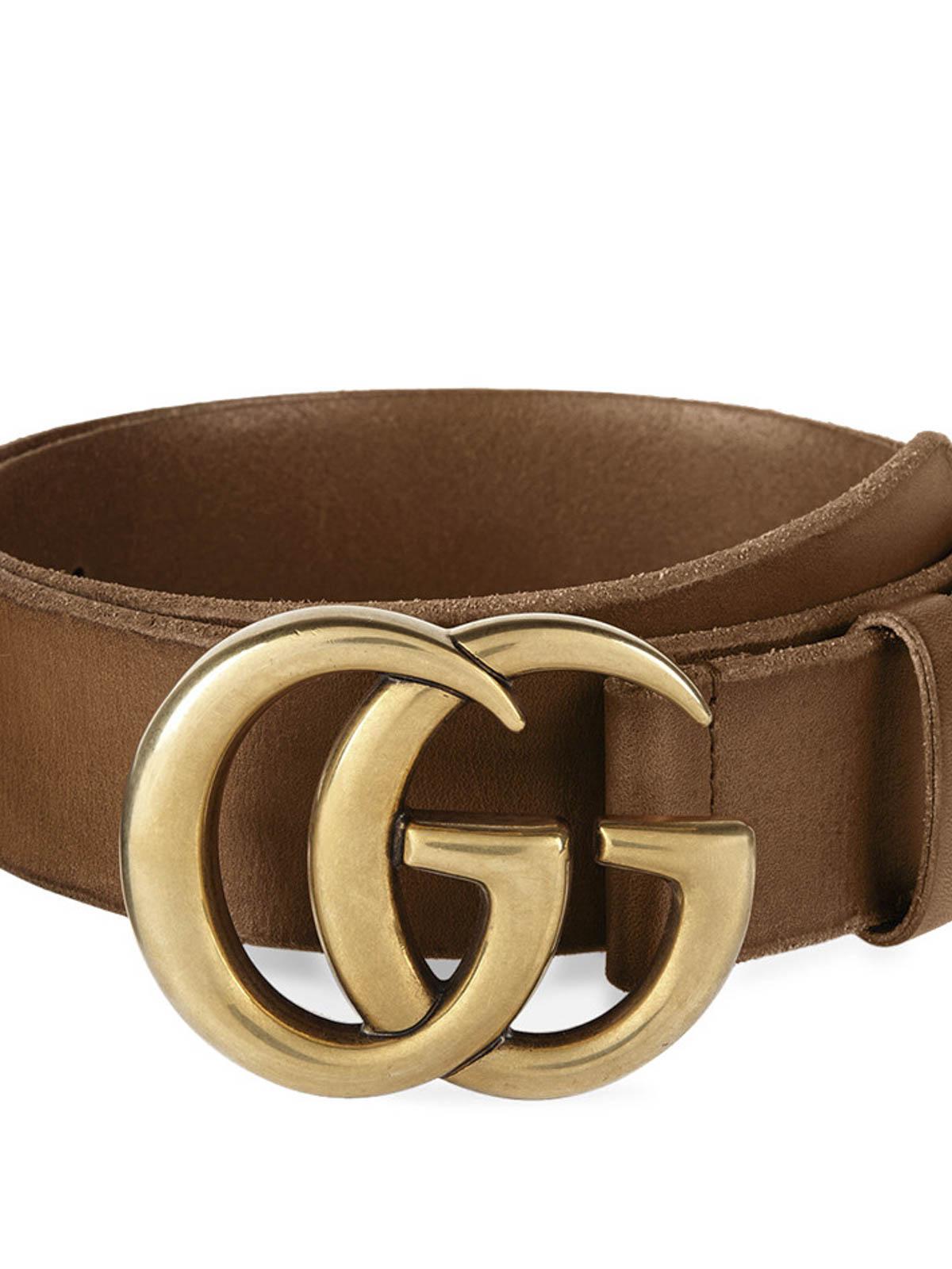 Gucci - Cinturón Marrón Claro Para Mujer - Cinturones - 409416 CVE0T ... 26ec3f27fdd