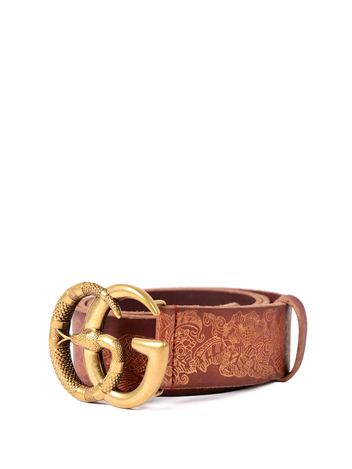 e409f677ff2 Gucci - Snake GG buckle and leather belt - belts - 458949D7K3T8641