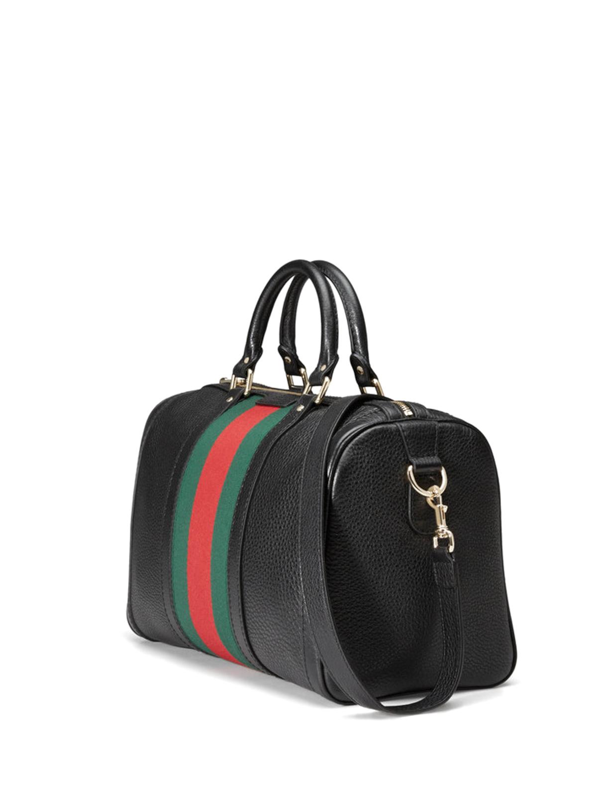 Gucci Bowling Bags Online Vintage Web Boston Bag