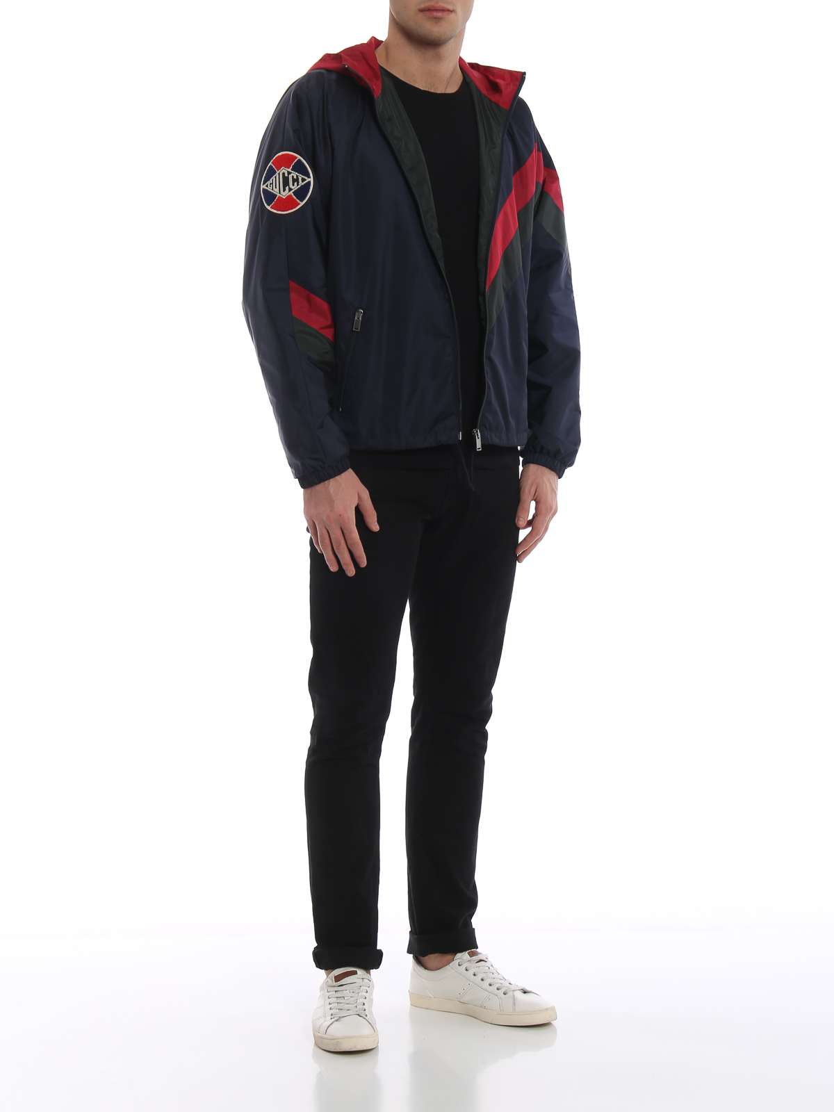 7457057cc56e GUCCI  casual jackets online - Gucci Game patch multicolour windbreaker