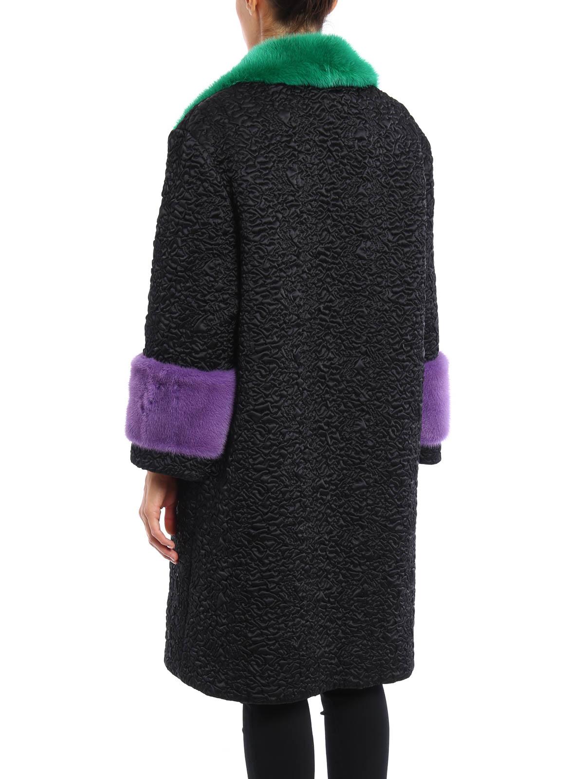 1d33a1462 GUCCI: Fur & Shearling Coats online - Mink fur detailed nylon coat