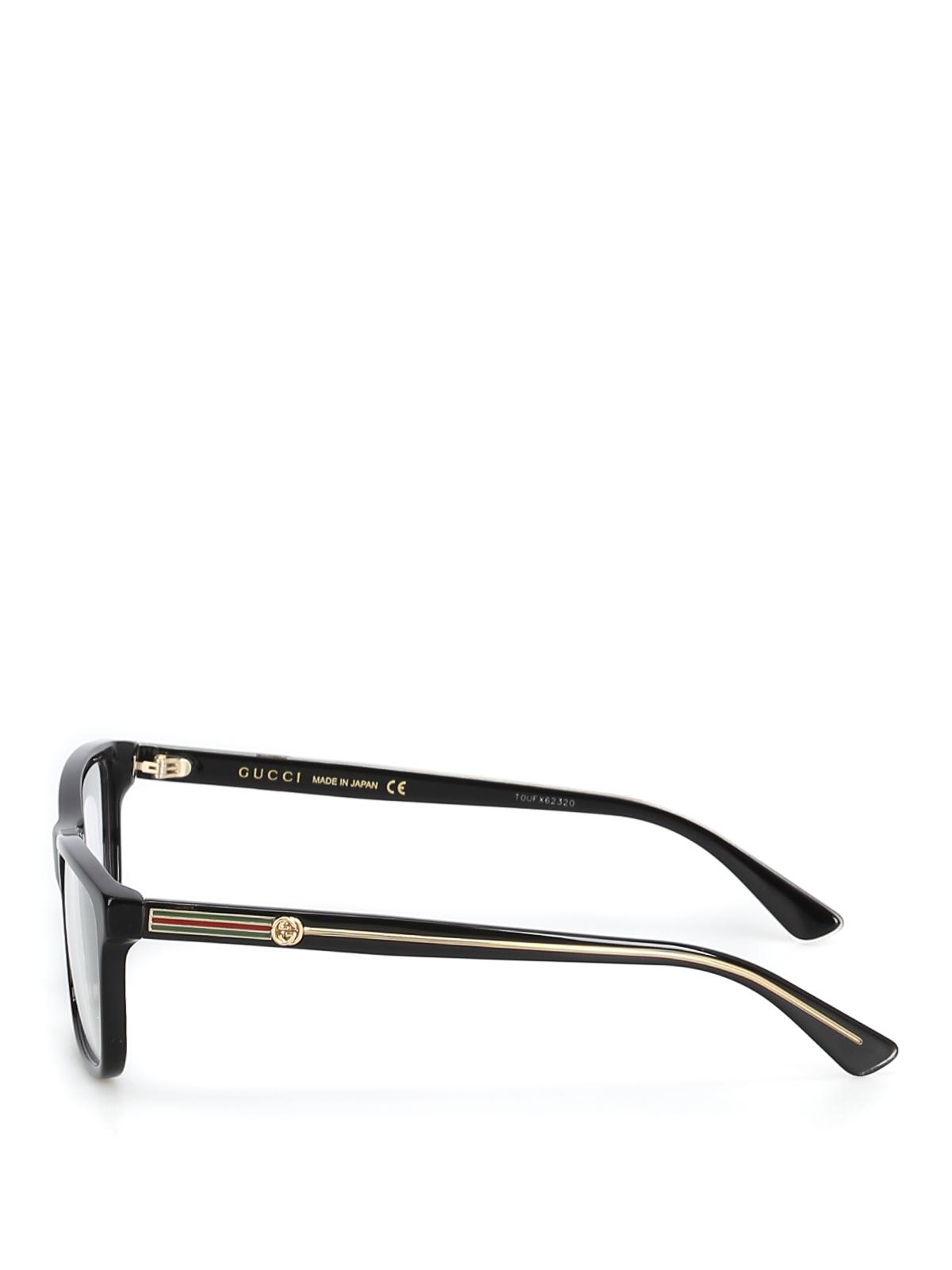 336baf44a02d3 GUCCI  Glasses online - Acetate black eyeglasses with golden details
