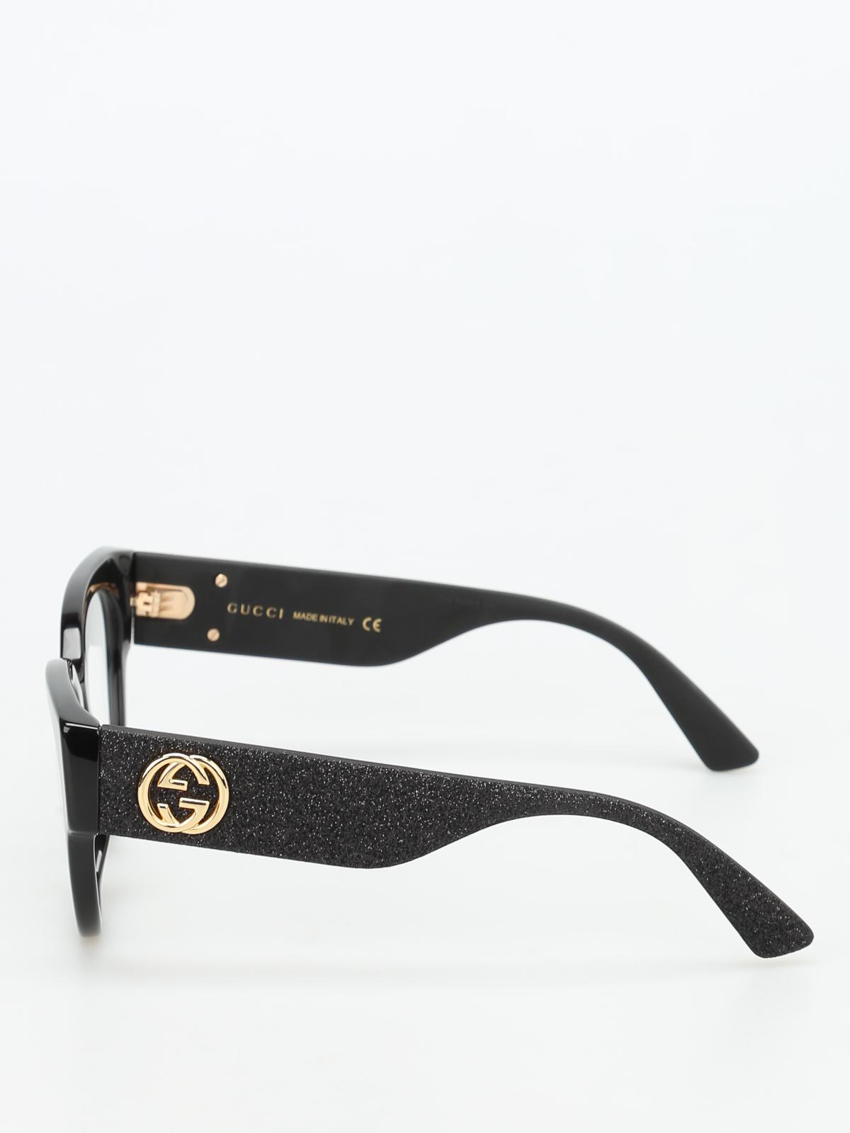 50e971f73677 Gucci - Glittered temples optical glasses - glasses - GG0103O1 ...