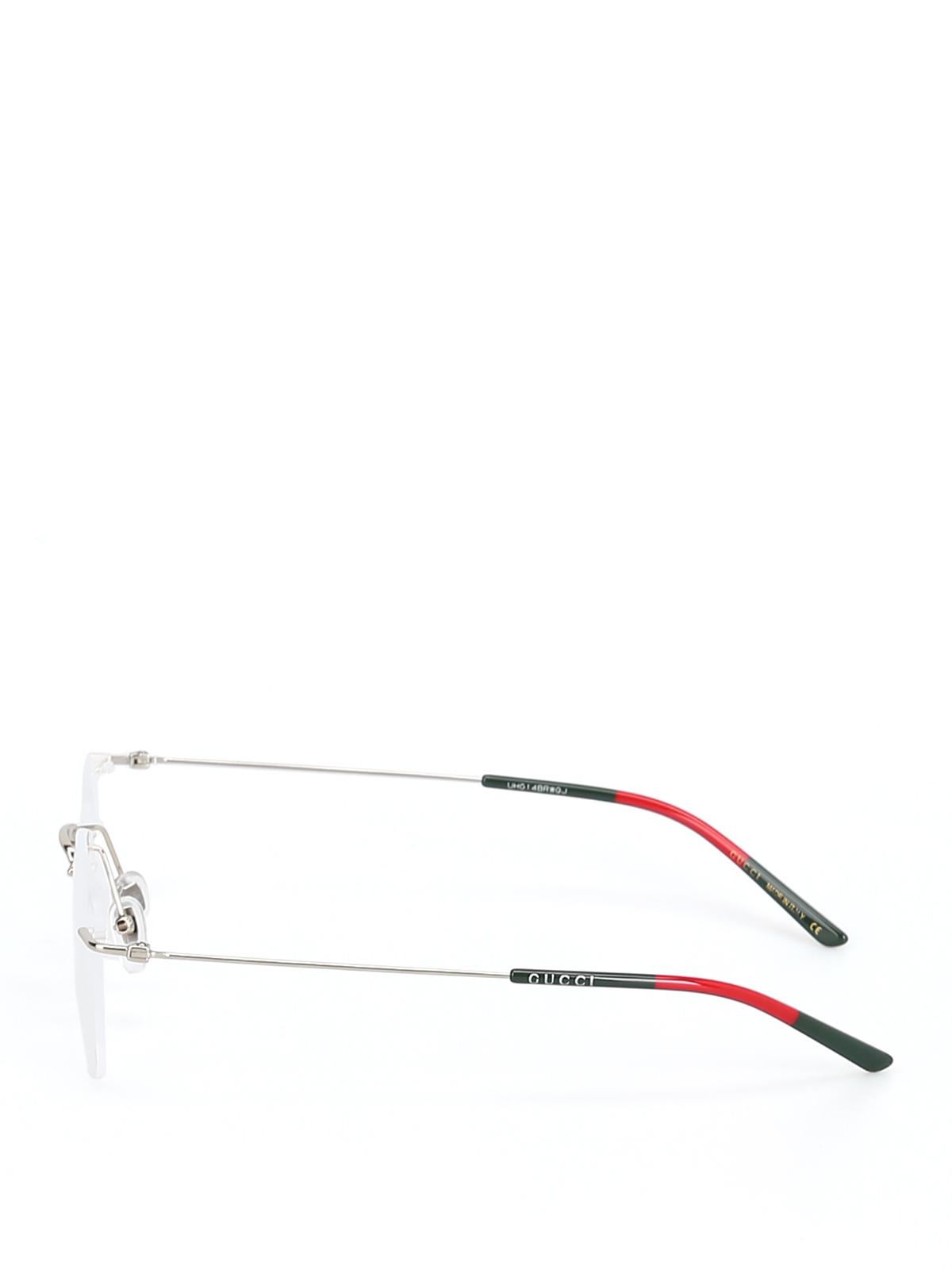 bf0df10c16f2 Gucci - Metal bicolour rimless eyeglasses - glasses - GG399O004