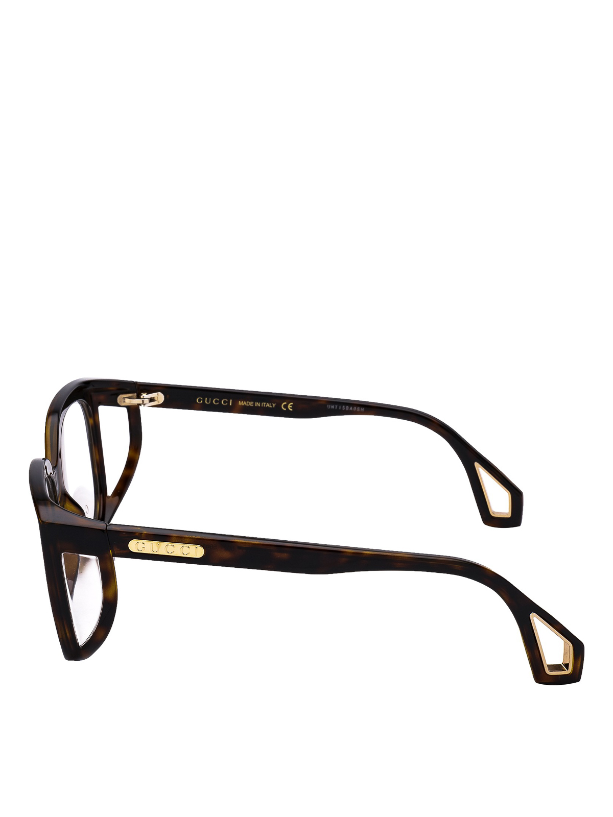 96dd4de341f GUCCI  Glasses online - Square framed havana glasses with blinkers