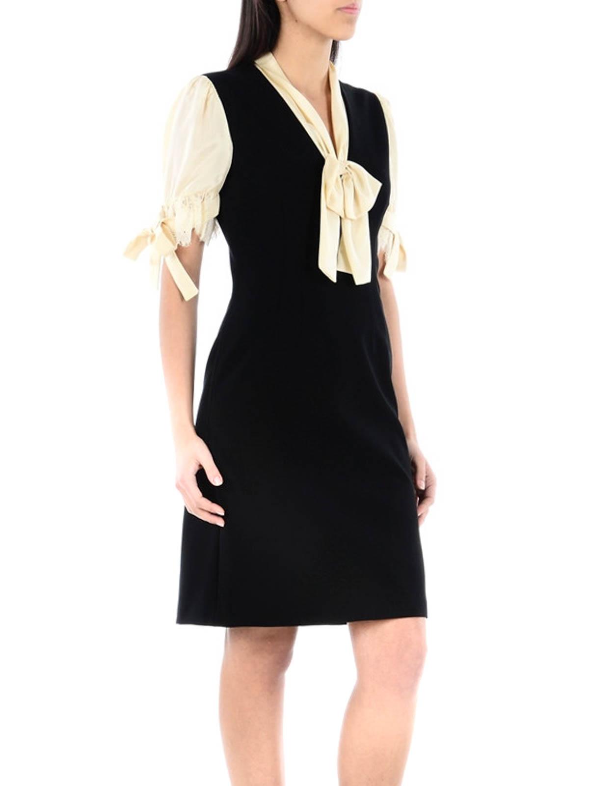 43cd30267 GUCCI: knee length dresses online - Silk inserts jersey sheath dress
