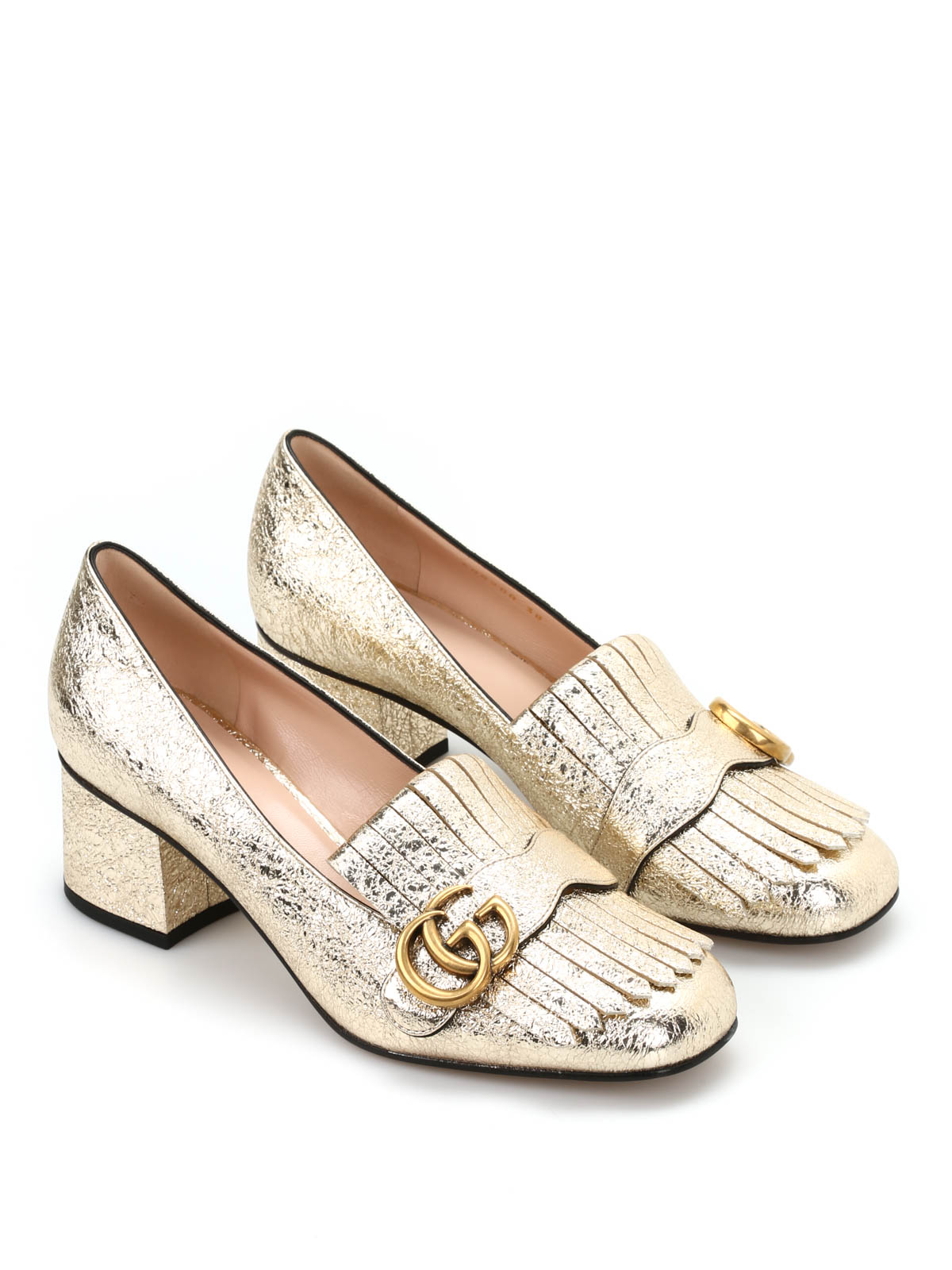 4ac1358f6 Gucci - Metallic leather loafers - Loafers   Slippers - 408208 DKT00 ...