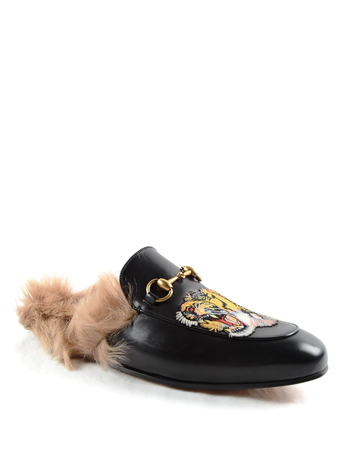 cb4229e9468 GUCCI  Loafers   Slippers online - Princetown tiger patch slippers