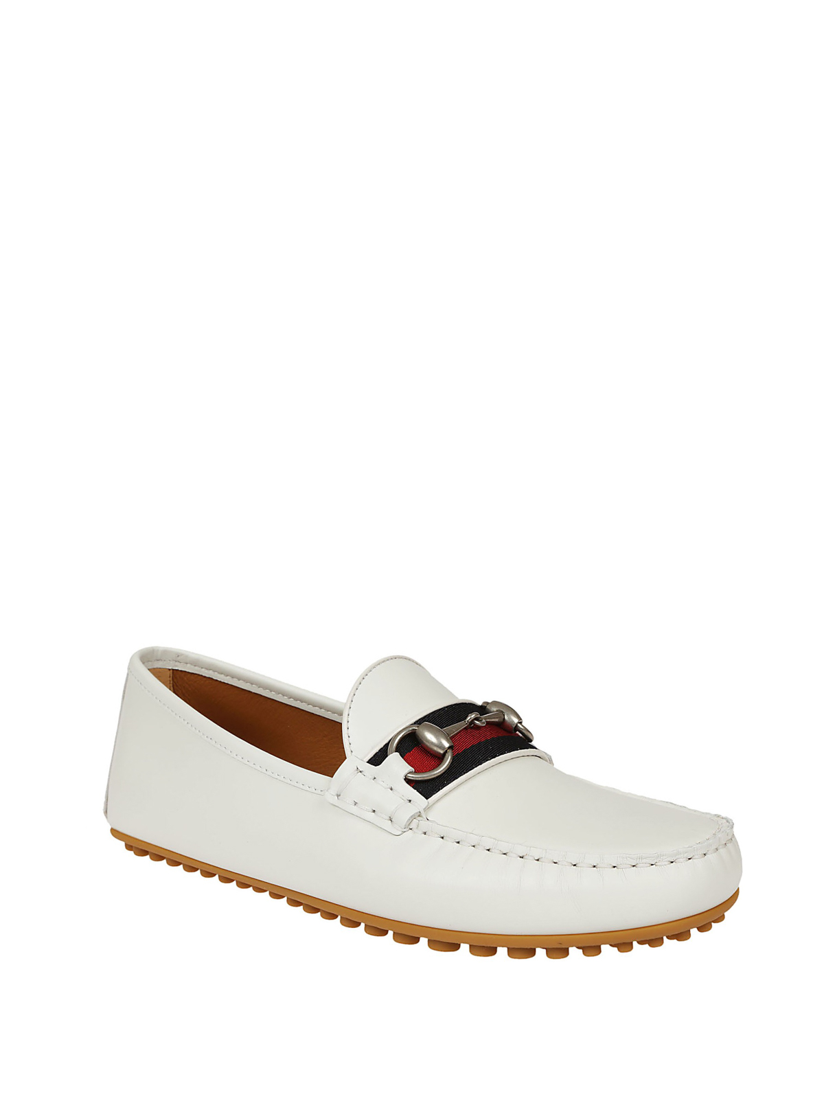 8f45d8f650e GUCCI  Loafers   Slippers online - Web and Horsebit leather loafers