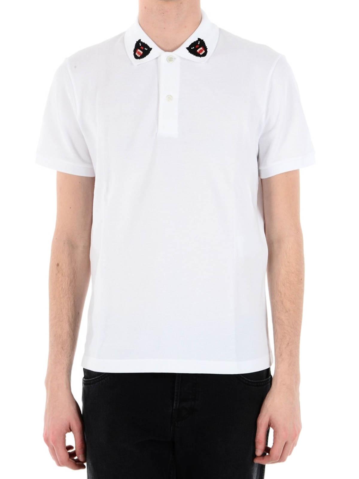 8312895cd9045a Gucci - Tiger logo on collar polo shirt - polo shirts - 453865X5H769024
