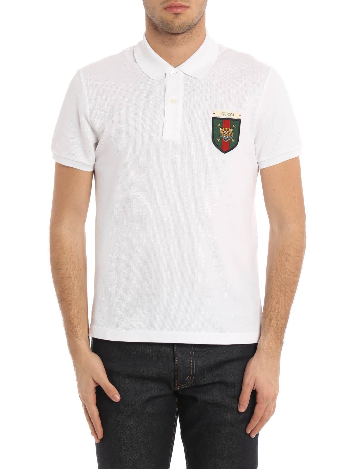 0ab6d39d5d721d Gucci - Web detail and tiger polo shirt - polo shirts - 408322 X5H61 ...