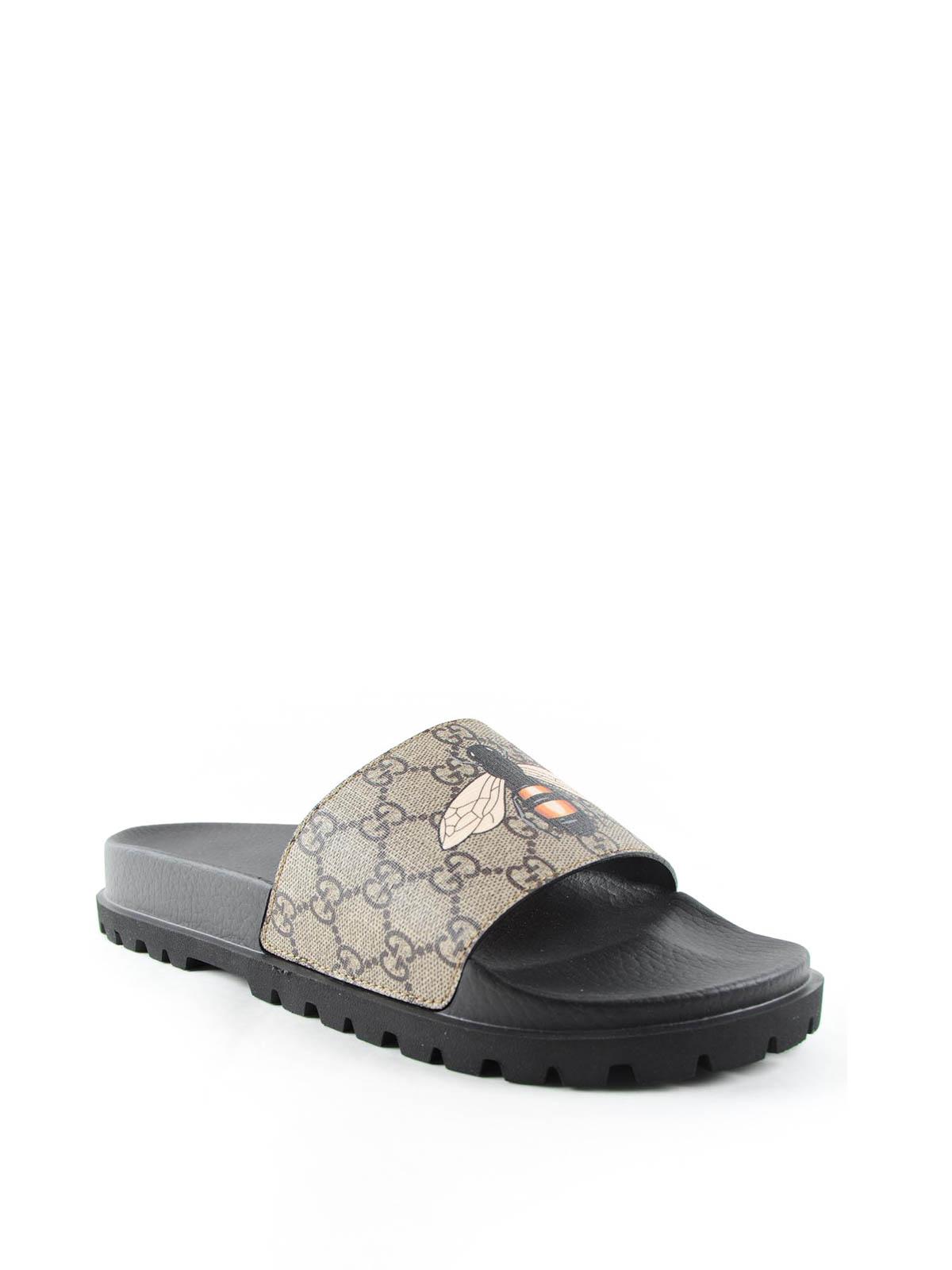 f3483f6bce3 Gucci - Bee flat sandals - صندل - 456243K5V00 8919