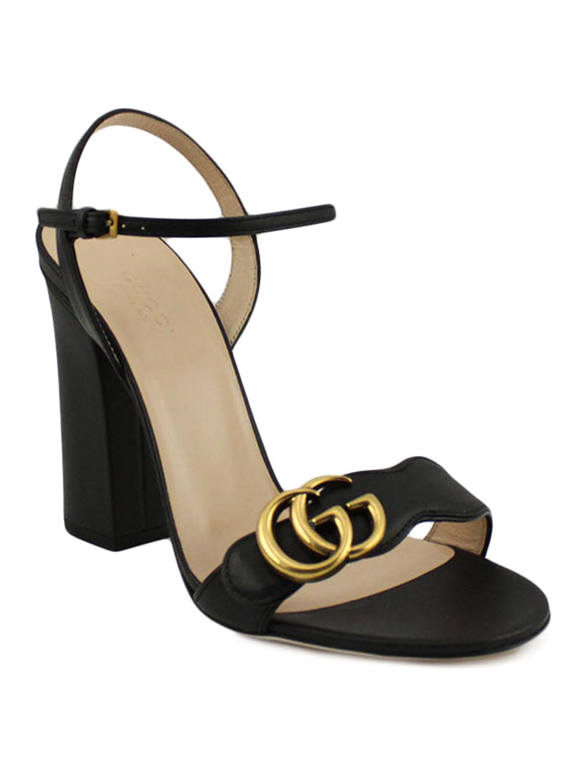 b617ebec9 Gucci - Double G leather sandals - sandals - 453378A3N001000 | iKRIX.com