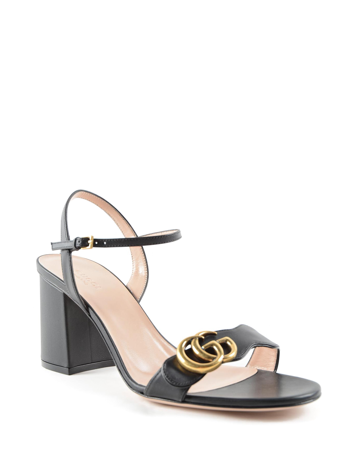 e22f4f21f77 Gucci - Mid-heel GG leather sandals - sandals - 453379 A3N00 1000