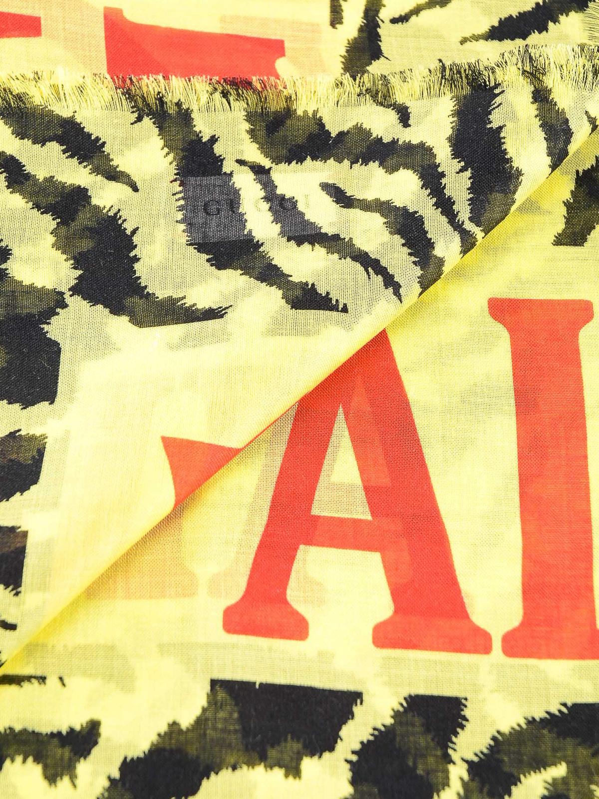 Gucci - Écharpe - Jaune Clair - Écharpes - 5596753G856 7200   iKRIX.com 27fb3eb532f