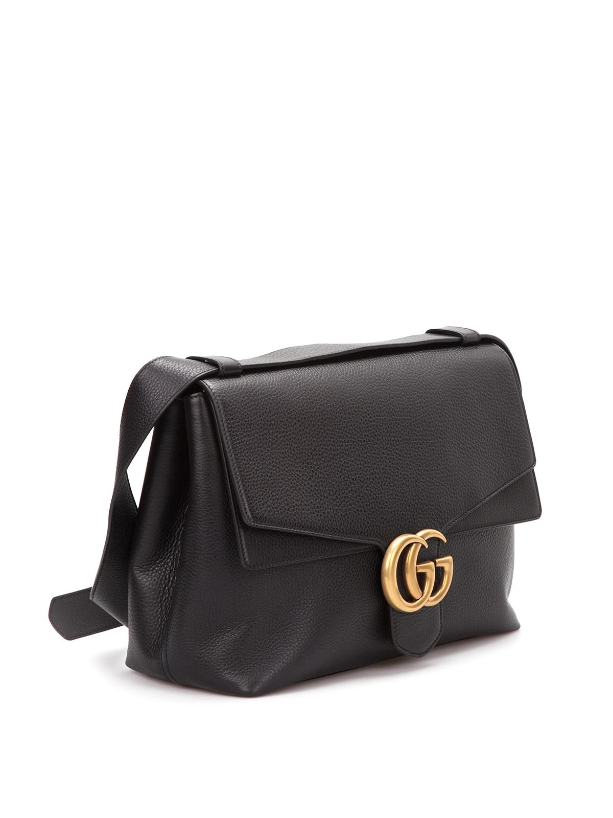 96b618efd6c Gucci - GG marmont leather shoulder bag - shoulder bags - 400245 ...
