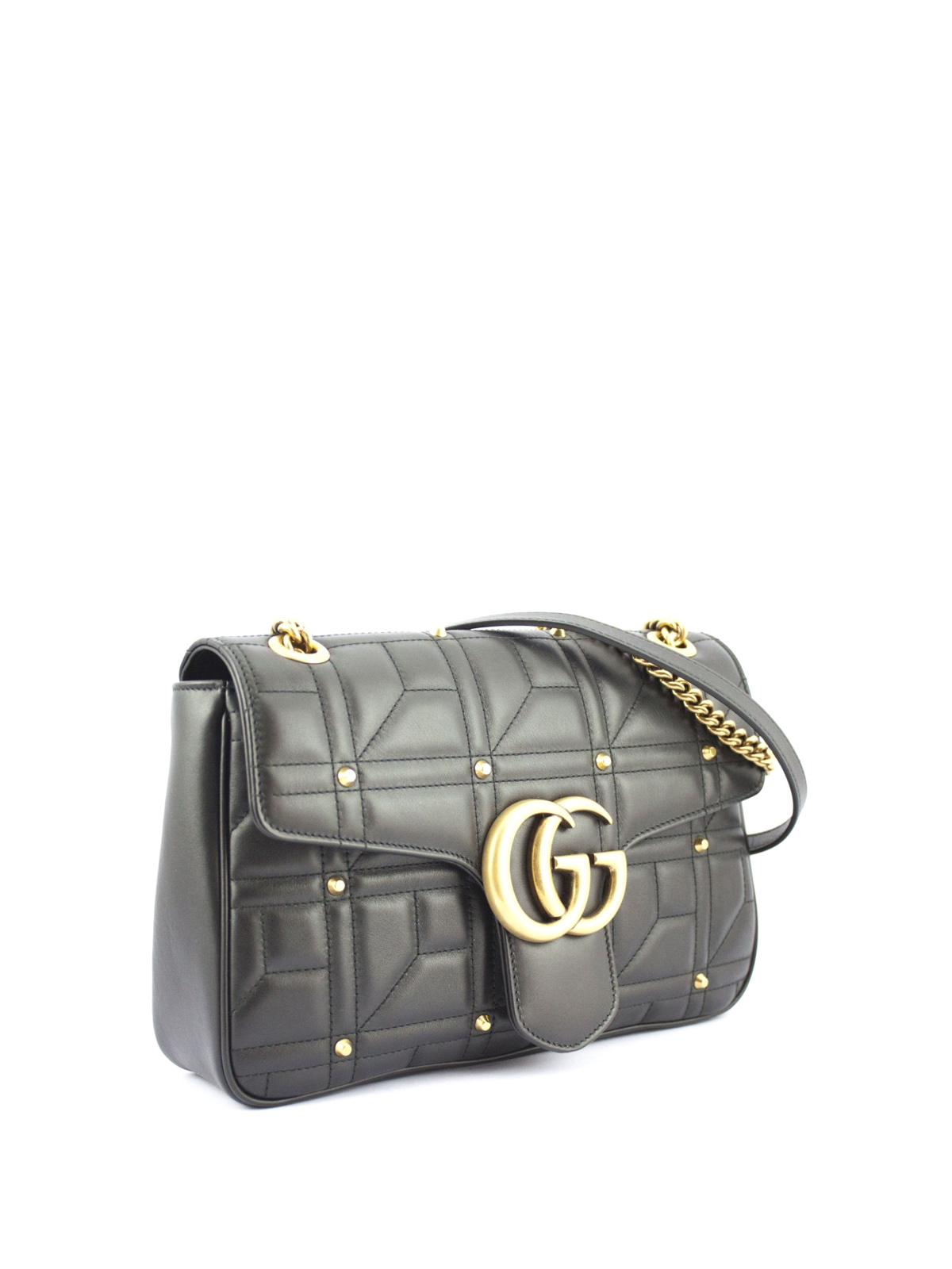 76734e842c6187 GUCCI: shoulder bags online - GG Marmont matelassé leather bag