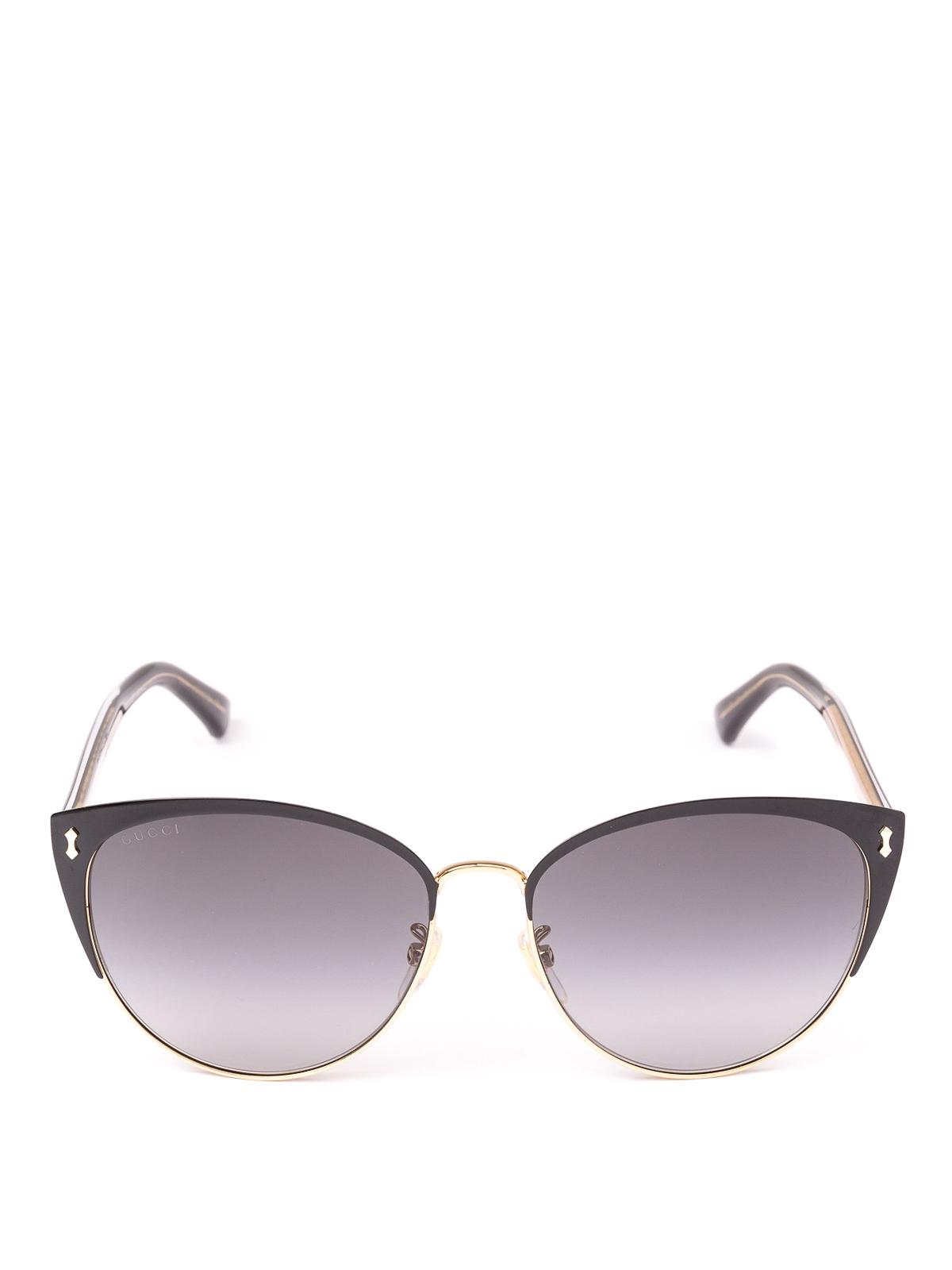 9e5c21a9d14 GUCCI  sunglasses online - Black and gold metal frame cat eye sunglasses