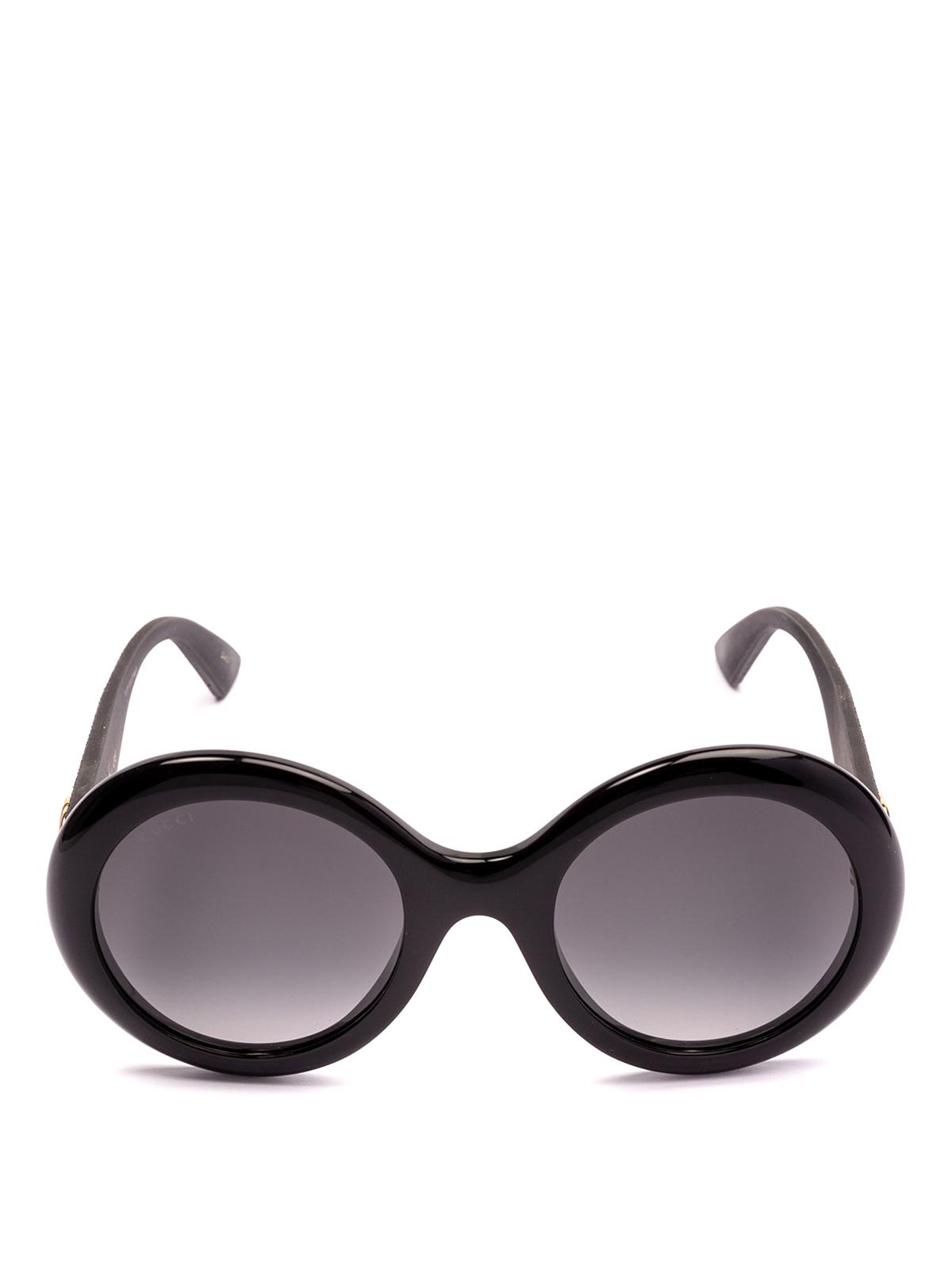 3eb6b13b0 Gucci - Glitter temples round sunglasses - sunglasses - GG0101S 001