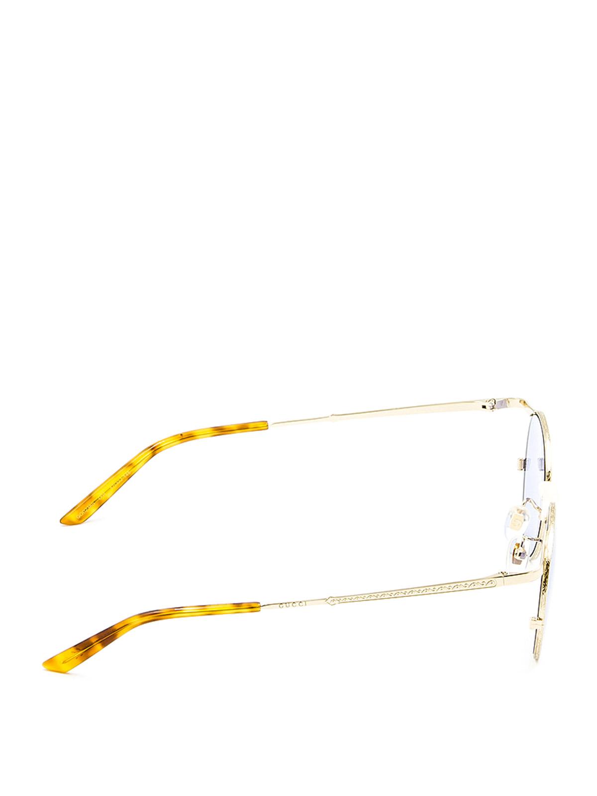 8290cfbf792 Gucci - Slim metal frame round sunglasses - sunglasses - GG0238S4