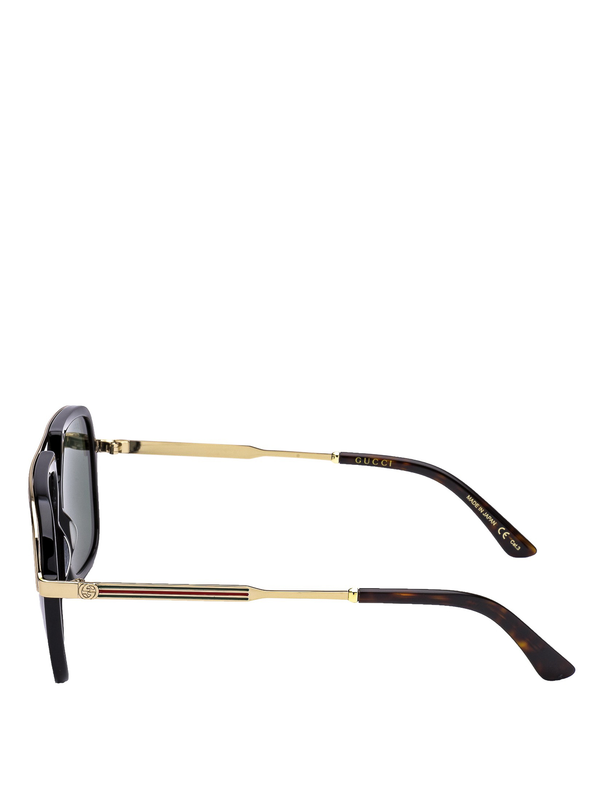 aab29660f96d5 GUCCI  sunglasses online - Web detailed black and gold sunglasses