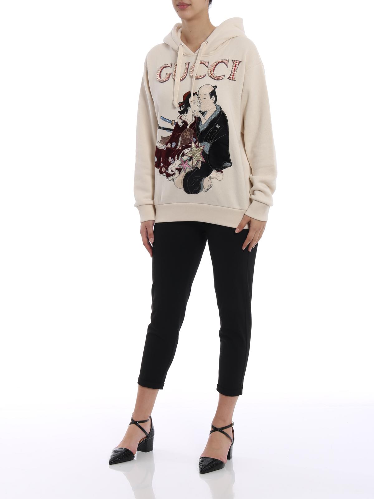 e2903c130 GUCCI: Sweatshirts & Sweaters online - Geisha pattern embellished hoodie