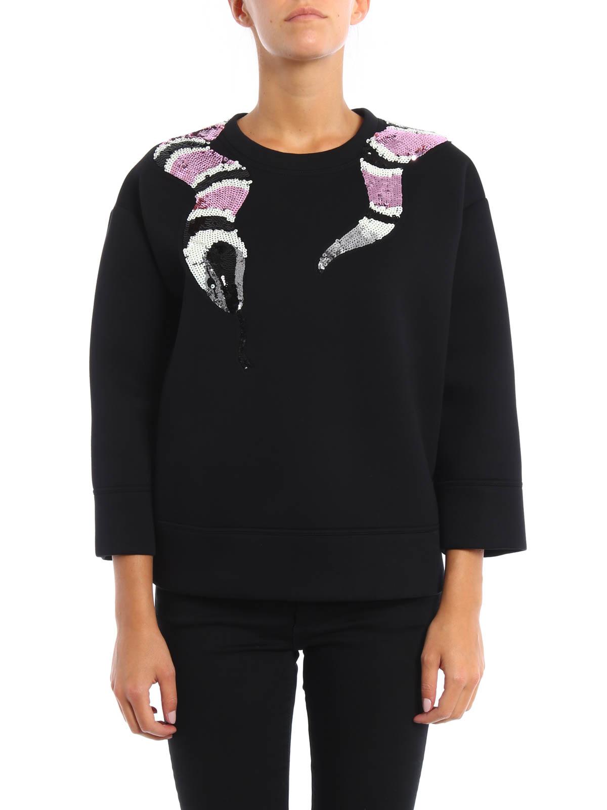 8ea15f09c88 GUCCI  Sweatshirts   Sweaters online - Snake embroidery sweatshirt