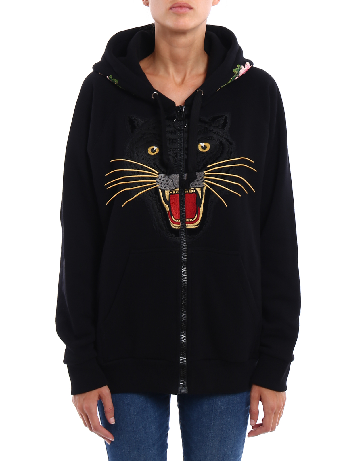 a87adbbaf2f GUCCI  Sweatshirts   Sweaters online - Tiger patch over hoodie