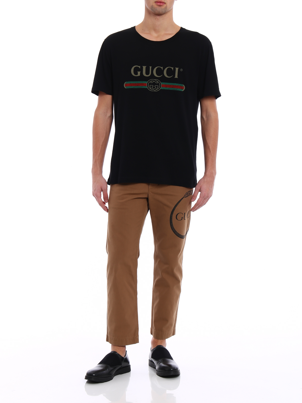 baa2e5f4c Gucci - Signature printed light jersey Tee - t-shirts - 440103 X3F05 ...