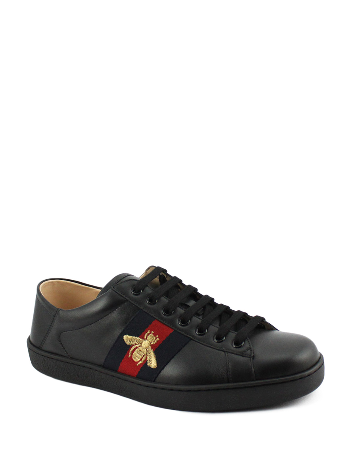 Gucci - Ace bee embroidery leather