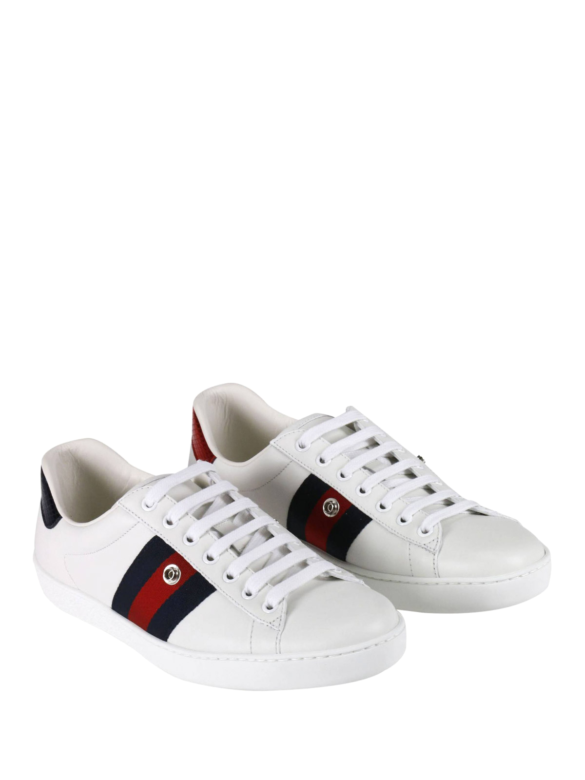Gucci - Ace removable patch sneakers