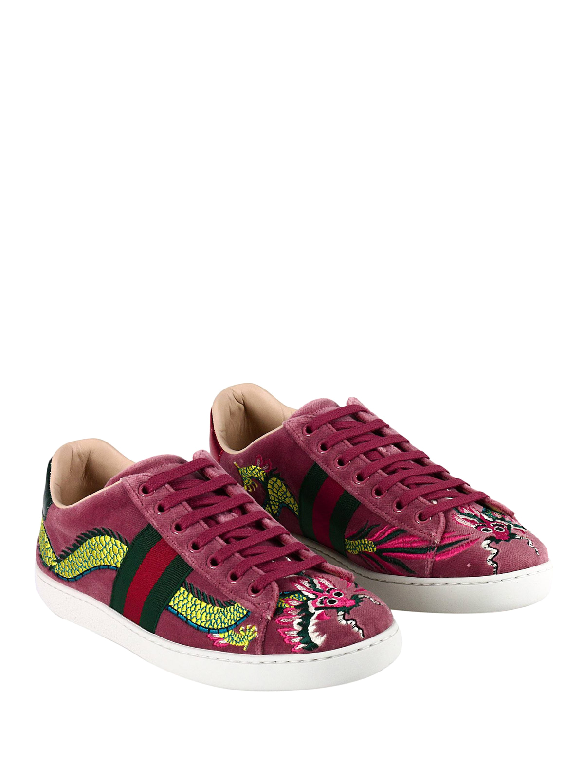 38c52d2132f Gucci - Dragon embroidered velvet sneakers - trainers - 475212 FASJ0 ...