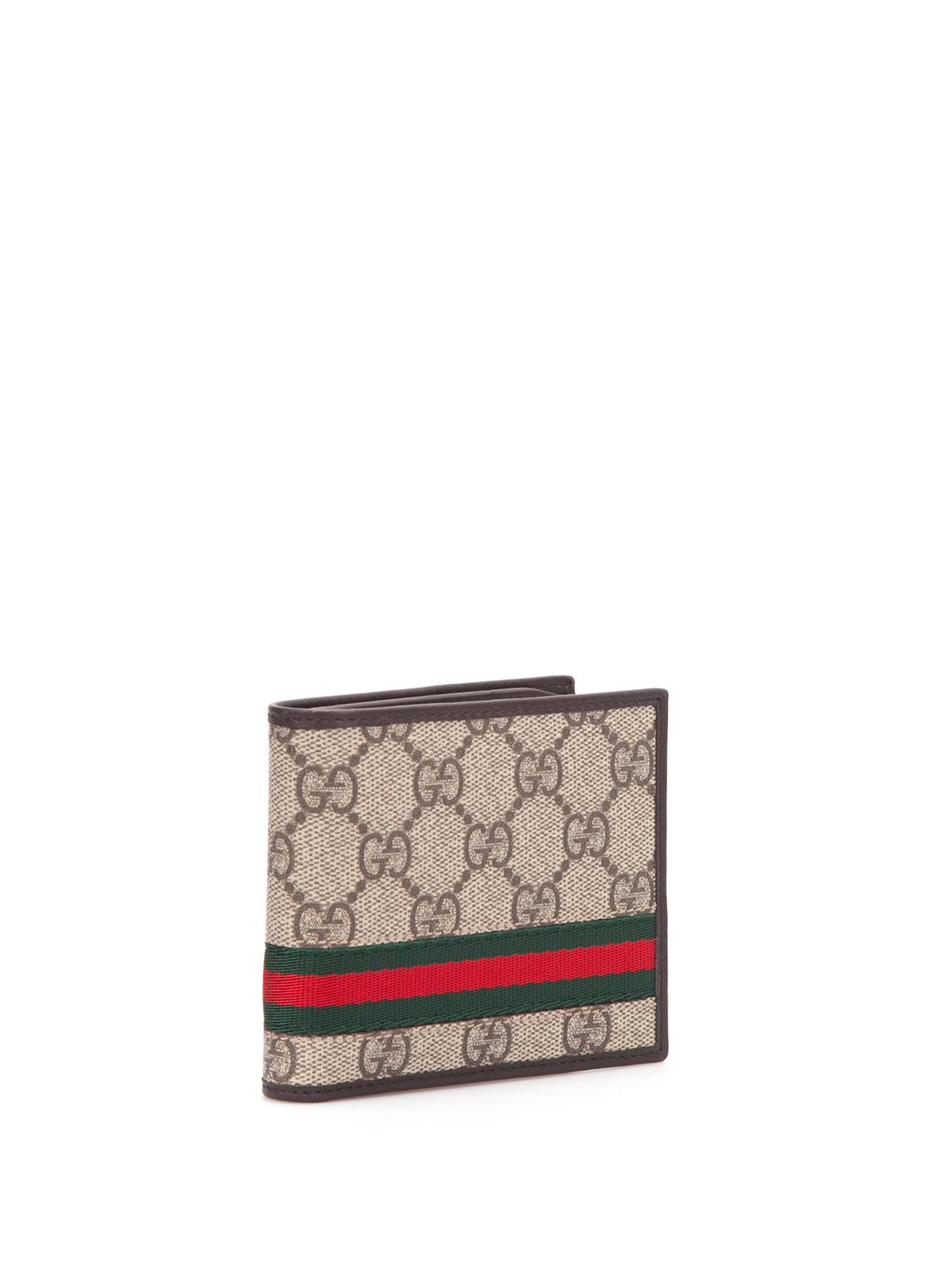 7acdfaada4b7b2 Gucci - GG supreme canvas bi-fold wallet - wallets & purses - 365491 ...