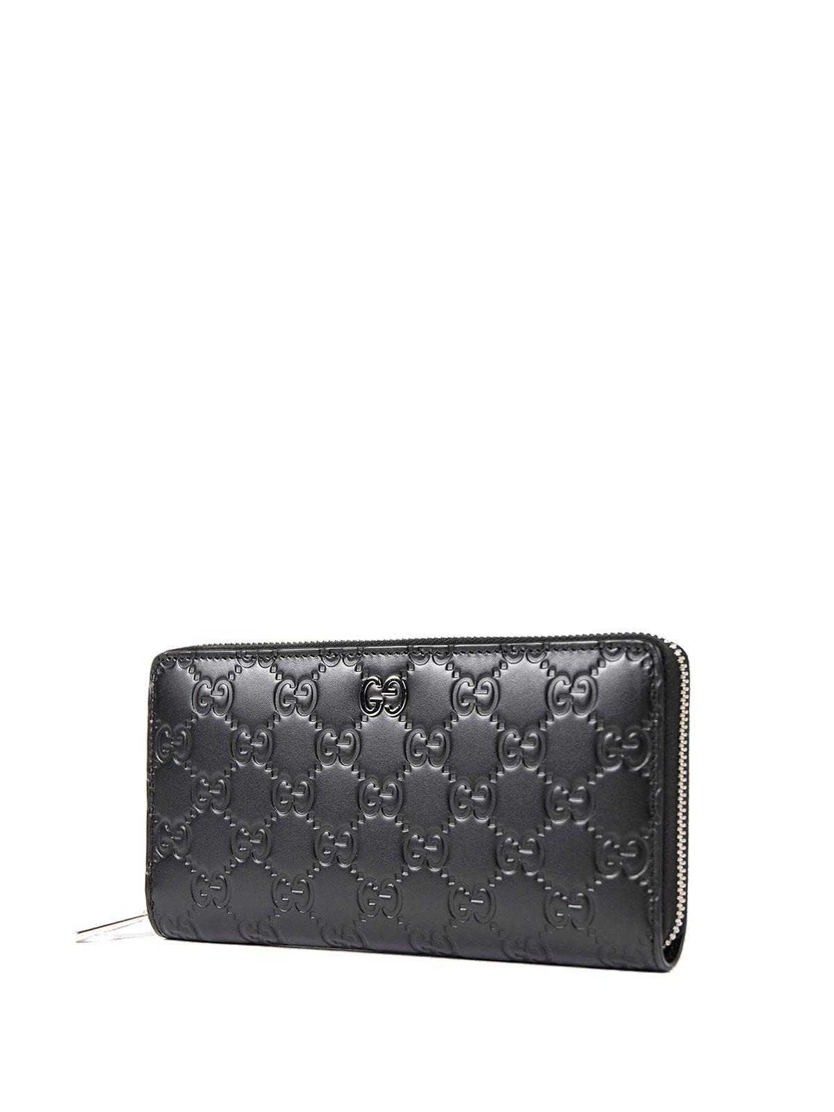 6c6de85c4663 GUCCI: wallets & purses online - Gucci Signature zip-around wallet
