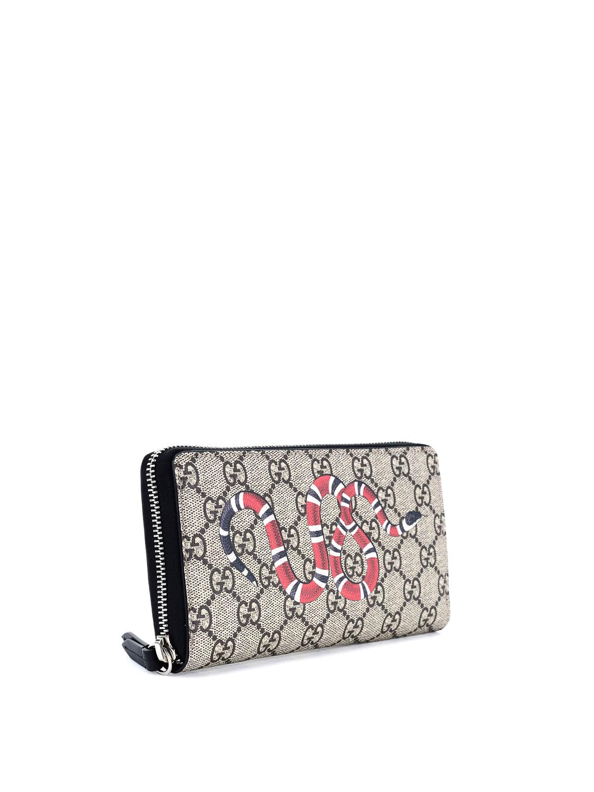 12ac1b1f1078 GUCCI: wallets & purses online - Snake print GG Supreme wallet