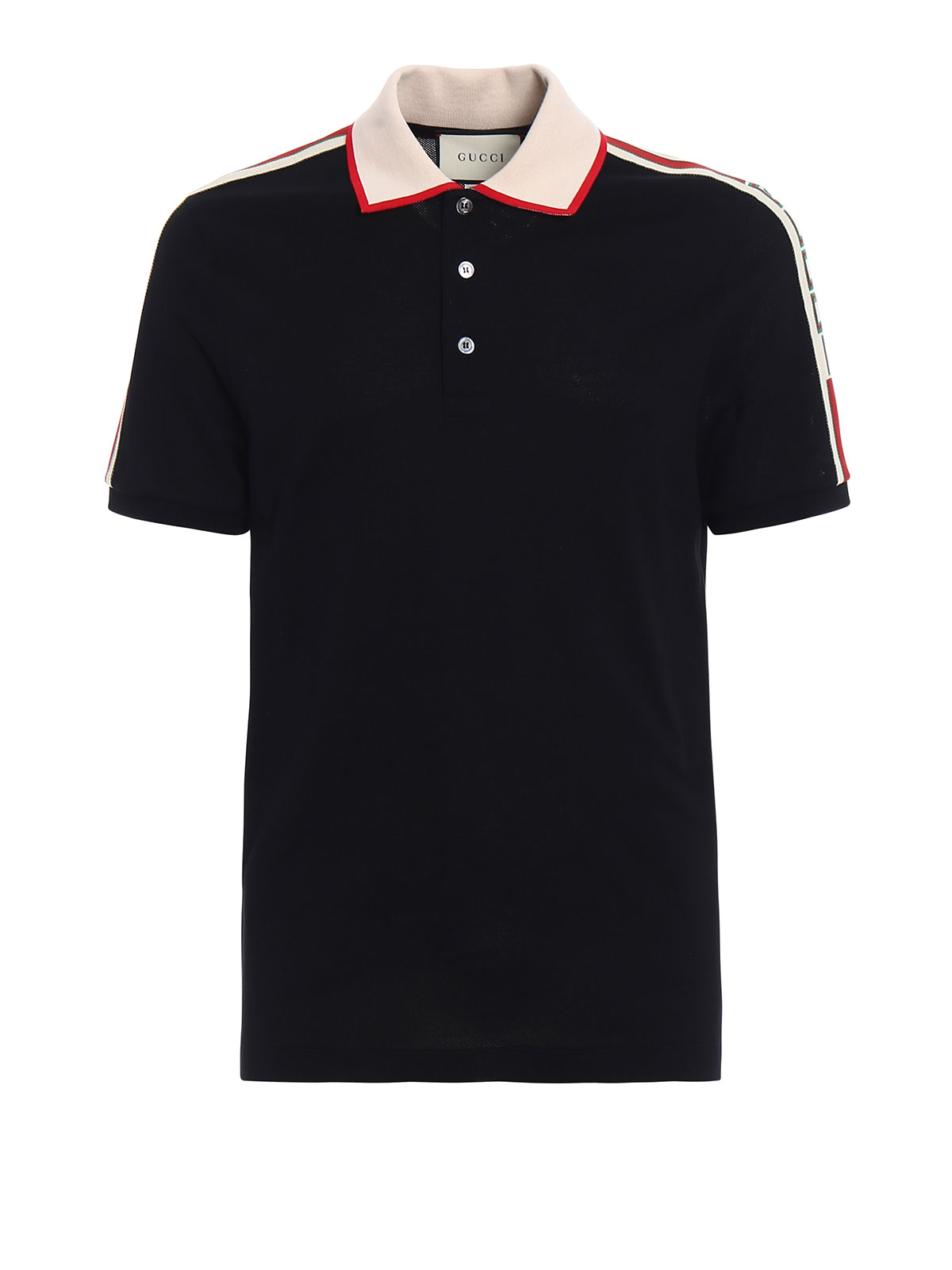 Cotton web polo shirt by gucci polo shirts ikrix for Cotton polo shirts with logo