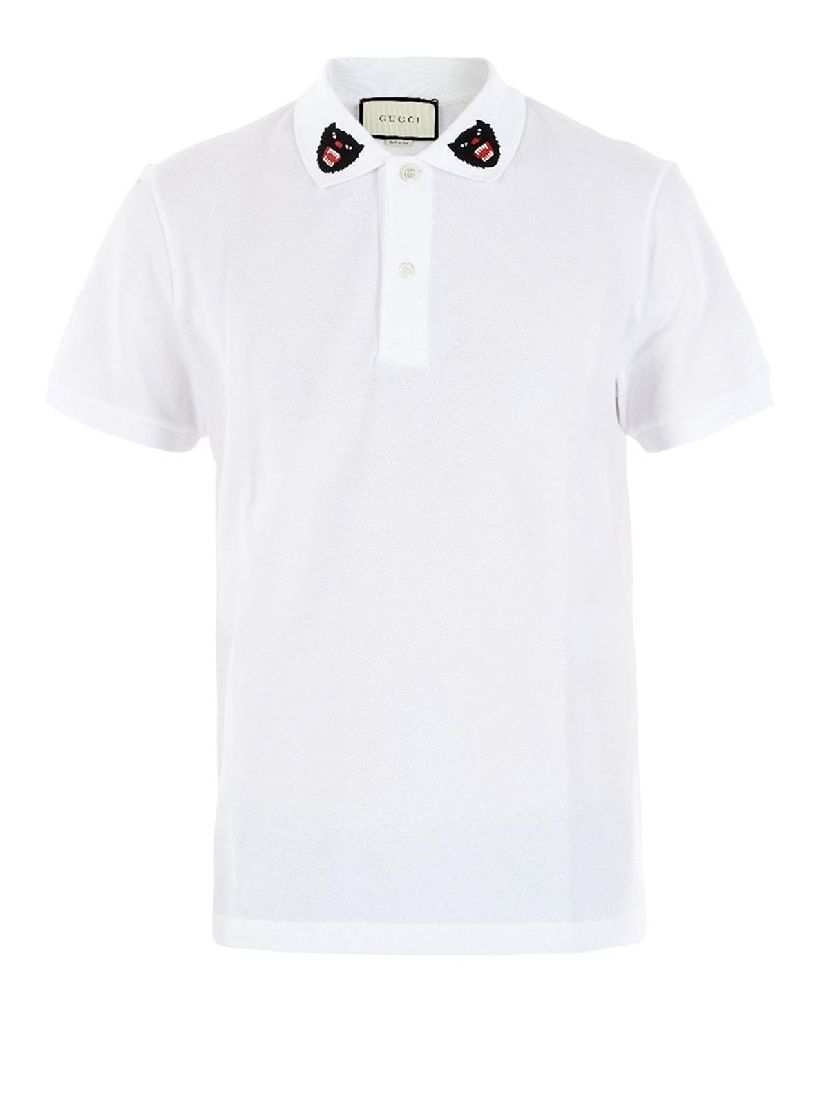3cfba8d46bf3 Gucci - Tiger logo on collar polo shirt - polo shirts - 453865X5H769024