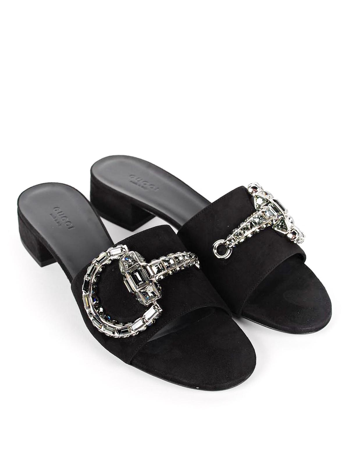 f8622830d52 Gucci - Crystal horsebit sandals - sandals - 371015 C2000 1000 ...