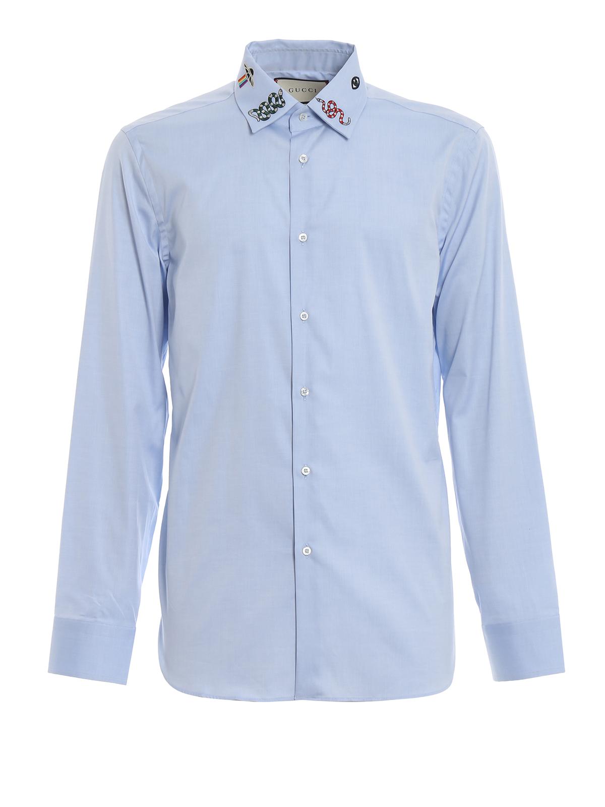 5ec503d4da3 Gucci - Embroidered collar cotton shirt - shirts - 523500Z341L4851
