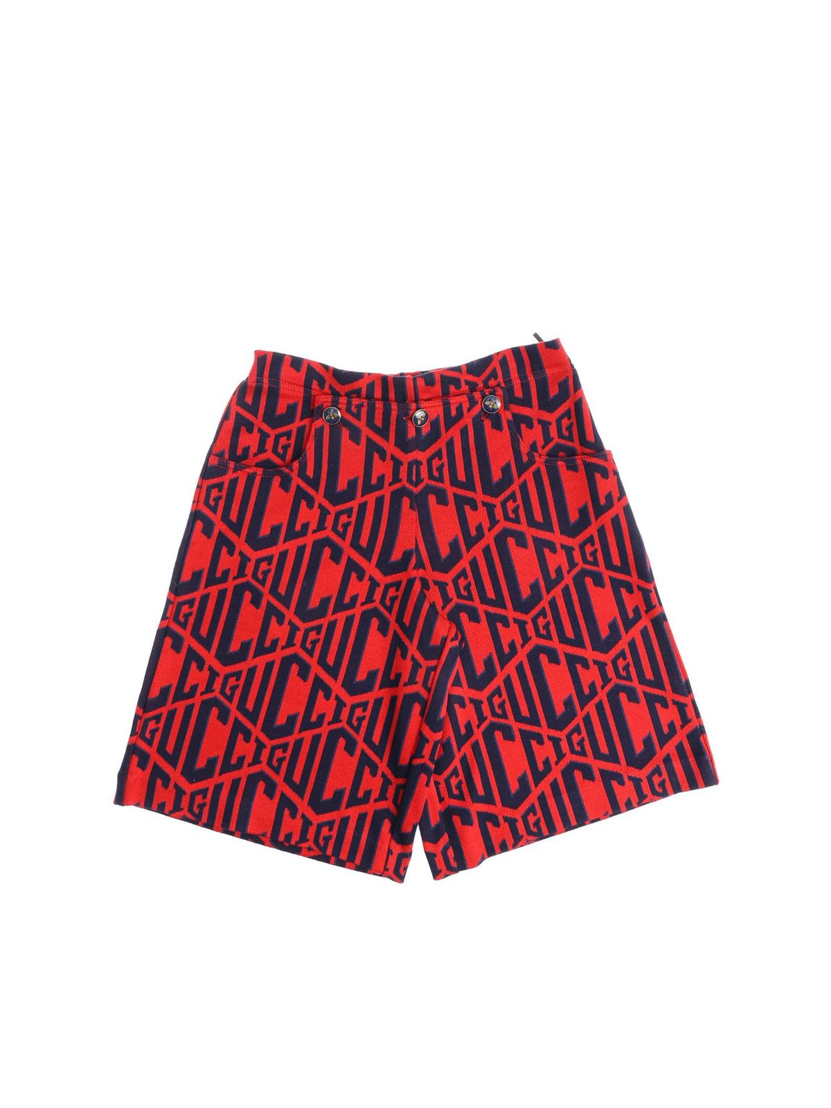 Gucci Kids' Monogram Red Pants