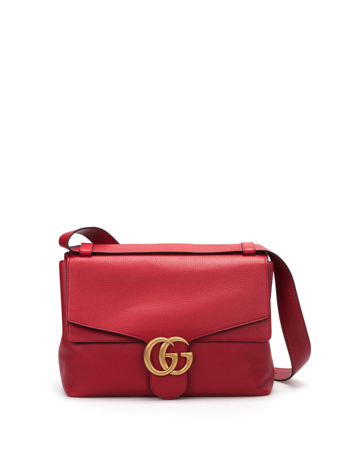 4ef1e0884 Gucci - GG marmont leather shoulder bag - shoulder bags - 400245 ...