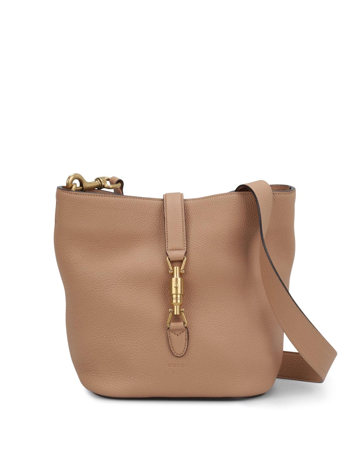 58df98ef665 Gucci - Jackie soft leather bucket bag - shoulder bags - 380579 ...