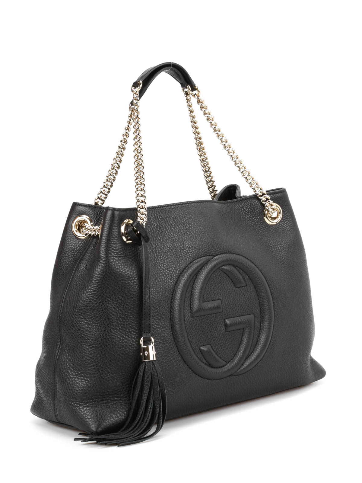 soho leather handle bag by gucci shoulder bags shop online at. Black Bedroom Furniture Sets. Home Design Ideas