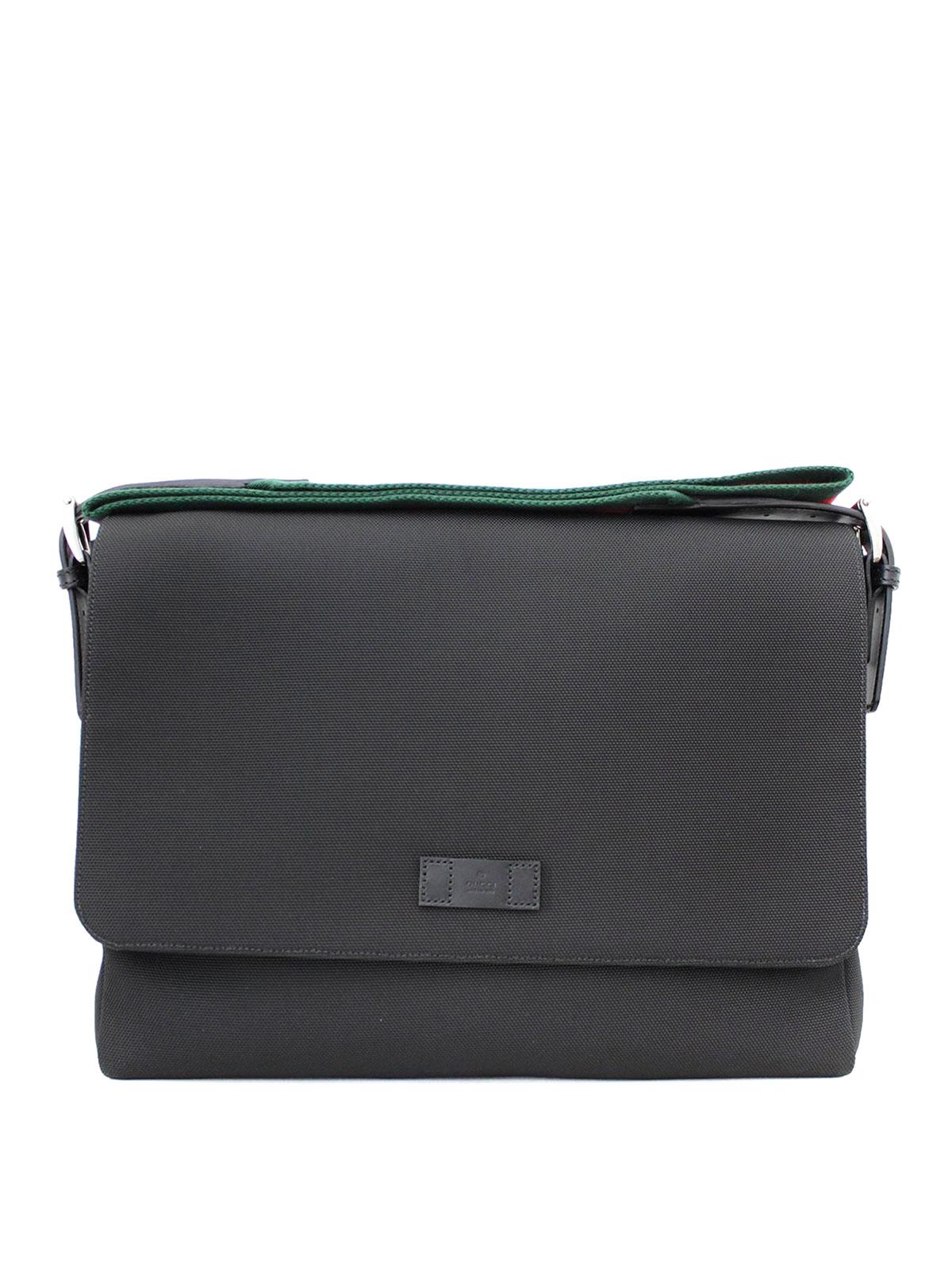 techno canvas messenger bag by gucci shoulder bags shop online at 337073 kwt5n 1060. Black Bedroom Furniture Sets. Home Design Ideas