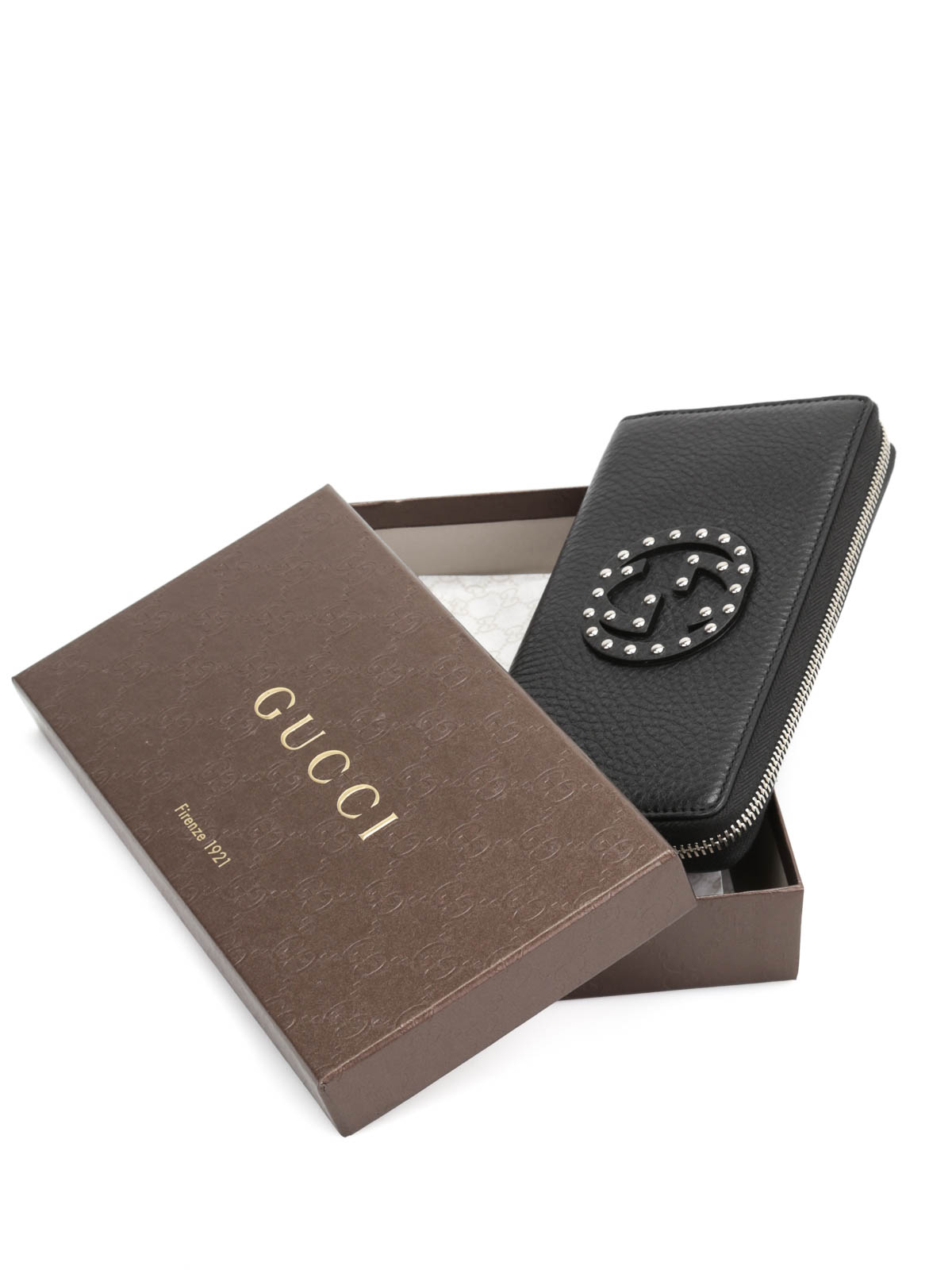 c3f0d2e3ea91 Gucci - Soho studded leather wallet - wallets & purses - 308004 ...
