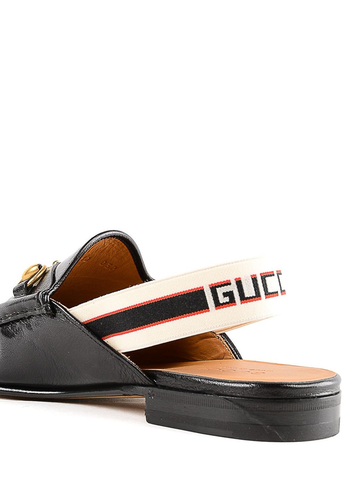 horsebit gucci stripe slingback slipper