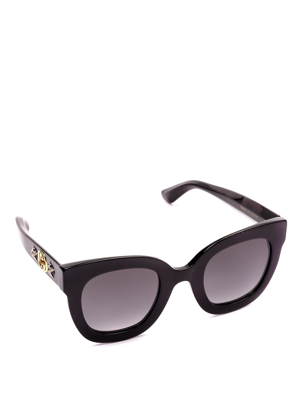 420b62c7e94 Gucci - Acetate sunglasses with logo and stars - sunglasses ...