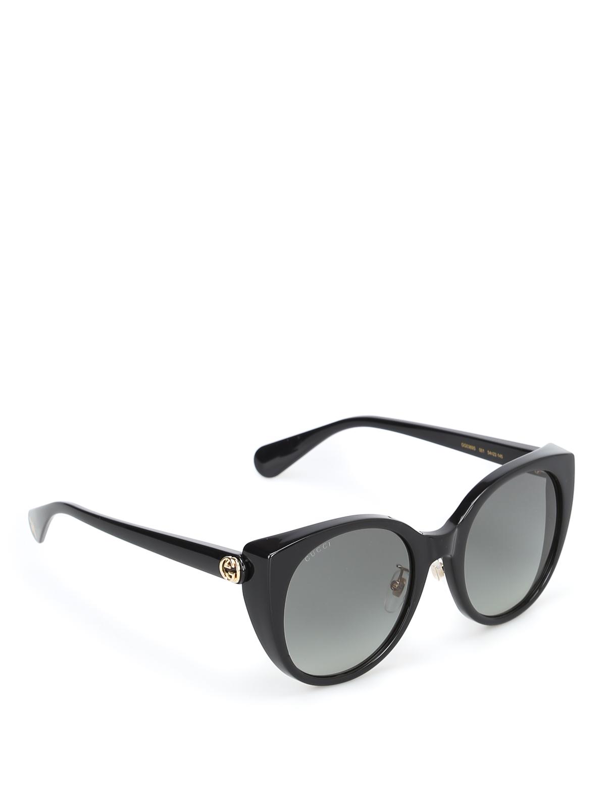 a1c3b24f45a12 Gucci - Black cat eye sunglasses with golden details - sunglasses ...