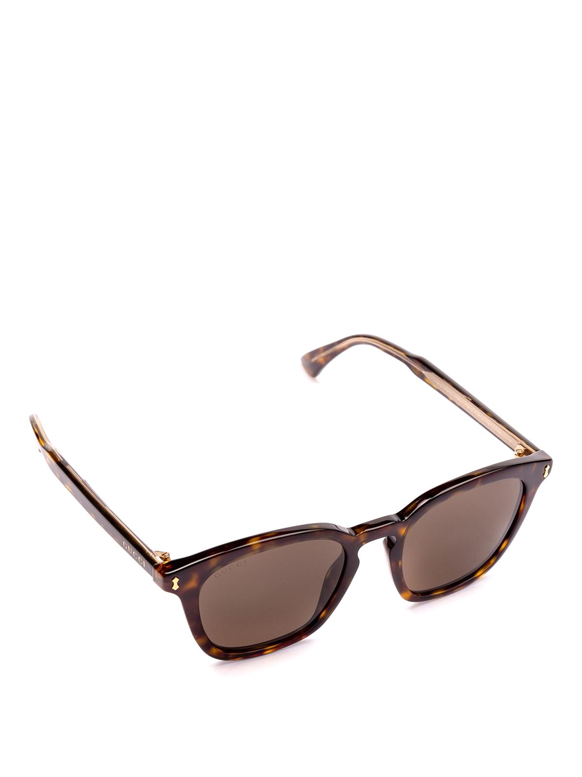 b1191be46d Gucci - Havana acetate square sunglasses - sunglasses - GG0125S 002