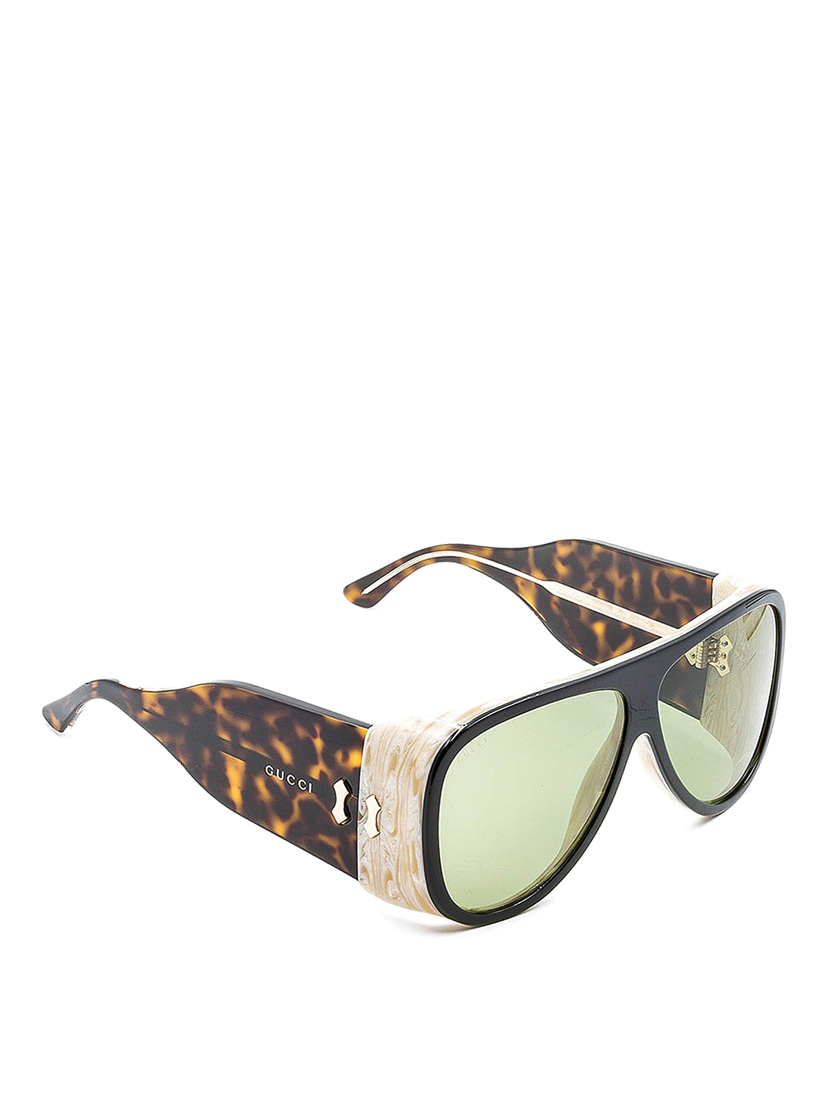 Gucci Maxi Aviator Sunglasses In Brown